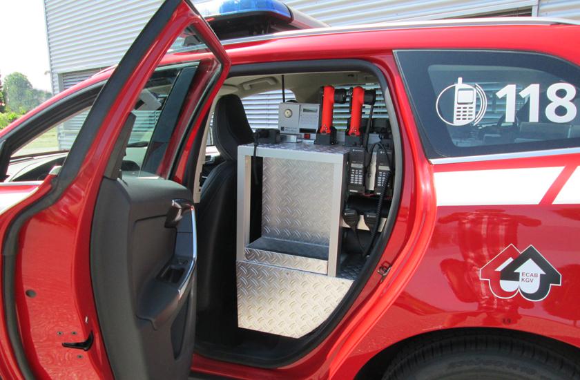 Detailansicht hinterer Fahrzeugraum
